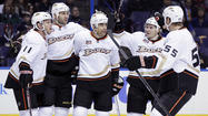 Ducks spread around scoring in 5-2 win over Blues
