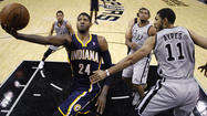 Pacers snap losing streak against Spurs