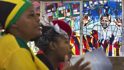 Nelson Mandela is prayed for, celebrated at South African church