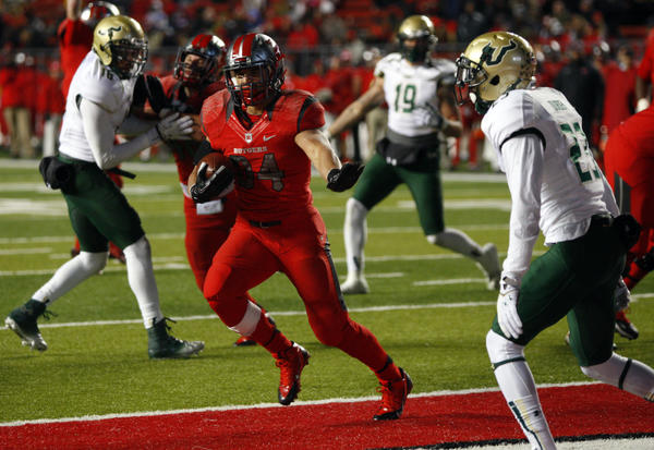 Running back Paul James and Rutgers will face Notre Dame in the Pinstripe Bowl.