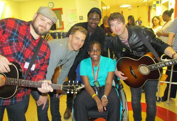 Plain White Ts band members performed for staff and patients at La Rabida Children¿s Hospital Dec. 6, 2013.