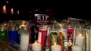 Paul Walker Memorial Continues Into The Night