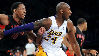 Kobe Bryant is just a rusty sidekick as Lakers lose to Toronto 106-94