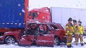Raw: Storm Causes Dozens of Crashes in Wisconsin