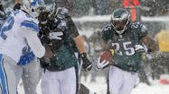 PICTURES: Eagles vs. Lions in the snow