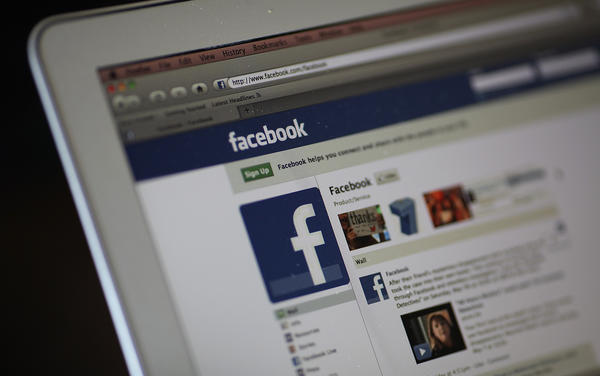 The Facebook website is displayed on a laptop computer in this file photo.