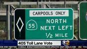 OC Transportation Board To Vote On New 405 Freeway Toll Lanes