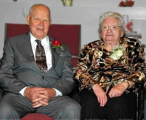 GLASTONBURY -- Howard M.Wood Jr., of South Glastonbury, here with his wife, Ruth, at their 75th anniversary celebration in 2011, served or started several churches in Connecticut, including what is now the Pilgrim Christian Fellowship in Glastonbury. Wood died on Sept. 5, 2013, at age 99.