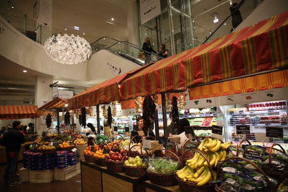 Produce at Eataly.