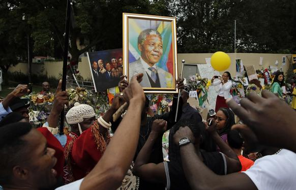 Nelson Mandela rounded out Facebook's top 10 list of most-talked about topics after passing away in early December. 