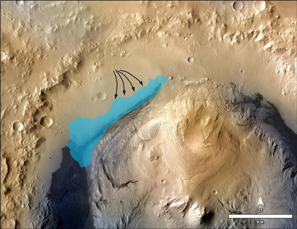 Lake at Gale Crater
