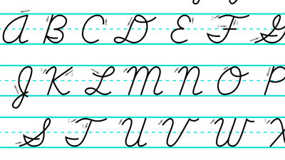 how to do cursive writing 2) strategically model cursive writing by forming and connecting/joining letters 3) discuss why it may be better to slant the paper when writing cursive, eg, right handed students can try slanting their paper to the right left handed students can try slanting their.