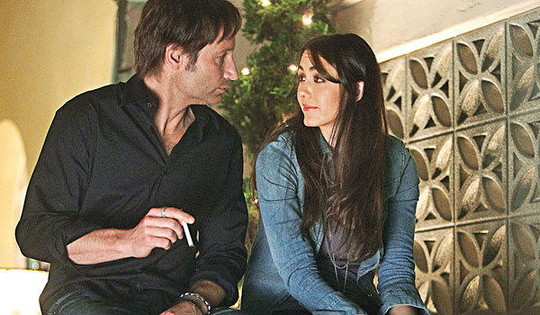 "David Duchovny and Madeline Zima in a scene from ""Californication."""