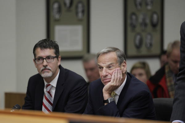 Ex-San Diego Mayor Bob Filner, right, at sentencing hearing