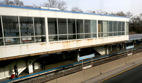 CTA will upgrade 12 Blue Line stations, including the Jefferson Park station shown here.