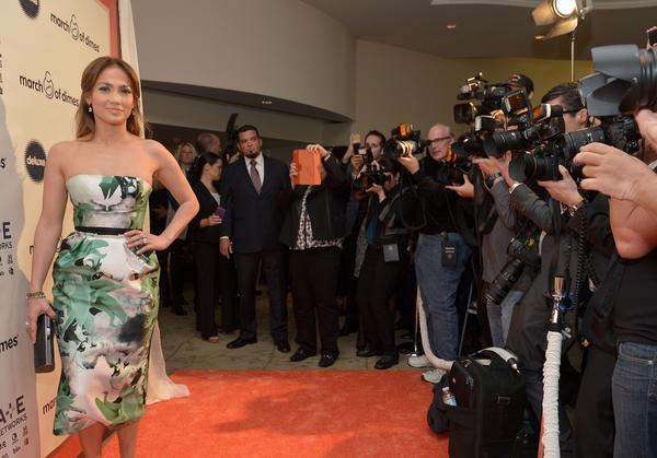 Actress-singer Jennifer Lopez attends the March of Dimes Celebration of Babies Luncheon at Beverly Hills Hotel.