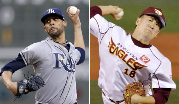 The Dodgers, who are looking to bolster their starting pitching with someone the likes of David Price, left, or Masahiro Tanaka, right, might not have the pieces to make a deal with Tampa Bay, and Tanaka could be headed to the Yankees.