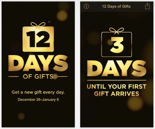 Apple '12 Days of Gifts'