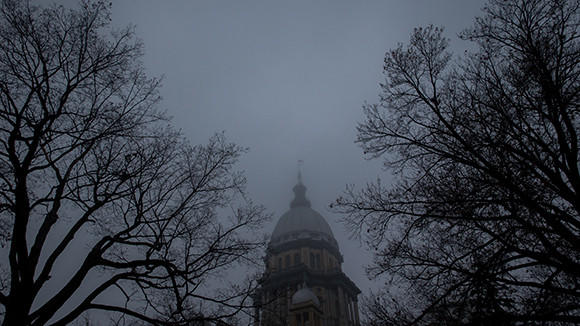 The Illinois State Capitol in Springfield on Tuesday, December 3, 2013.