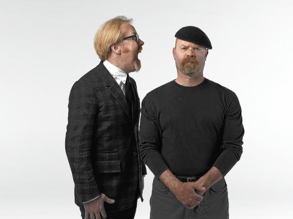 "Adam Savage (left) and Jamie Hyneman of ""MythBusters."""