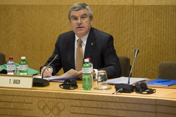 """The idea of setting up special protest zones for the Sochi Olympics had been discussed with the International Olympic Committee for """"quite some time,"""" said IOC President Thomas Bach, shown Tuesday before an IOC meeting in Lausanne, Switzerland."""