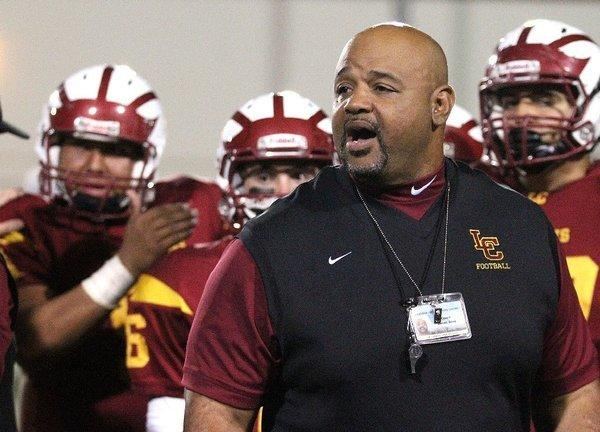 James Sims is reportedly out as the La Canada High football coach after just two seasons. (Tim Berger Staff Photographer / December 6, 2013)