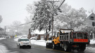 Tuesday snowfall stays on the low side in Harford