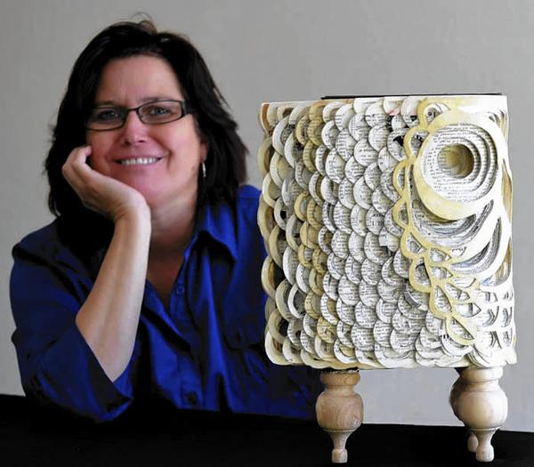 Artist Dawn Rosendahl transforms books into sculptures. See some of her work through Jan. 5 at the Maitland Art Center.
