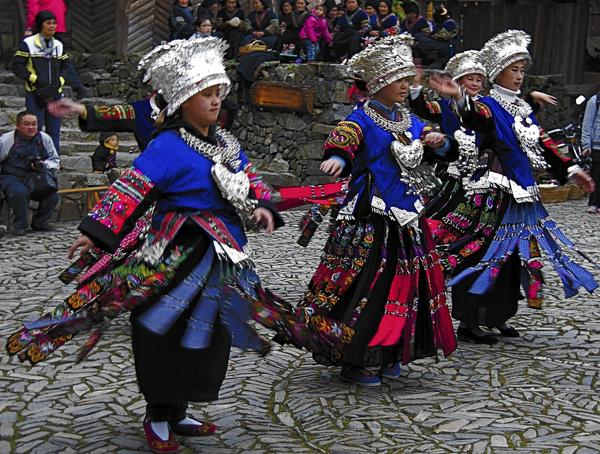 Miao tribes people of the Rongjian area of China.