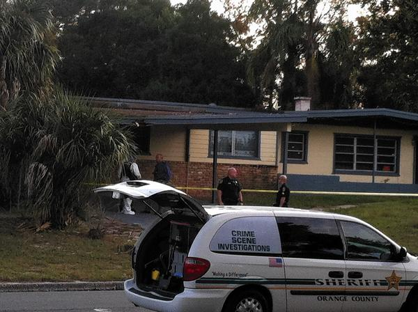 Remains were found in the backyard of a Pine Hills home Tuesday.