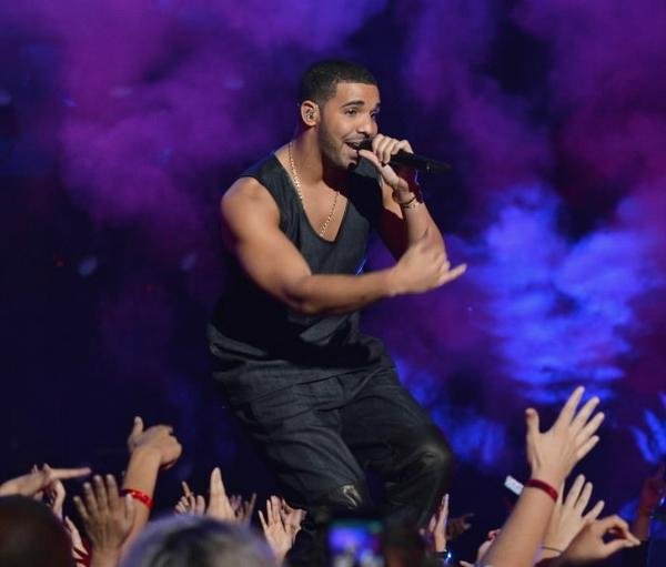 Drake performs during the MTV Video Music Awards at the Barclays Center Aug. 25, 2013 in the Brooklyn borough of New York City.