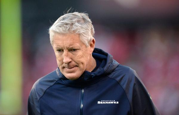 Coach Pete Carroll and the Seahawks still hold the top spot in the NFL.