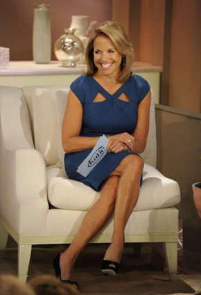 Katie Couric on the set of her daytime show.
