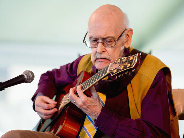 Jazz guitarist Jim Hall  performs at the Newport Jazz Festival 2013.