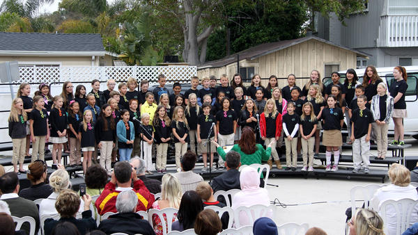 The Hawes Elementary Choir performs at the District Arts Show. The group will sing holiday songs at Bella Terra on Thursday night.