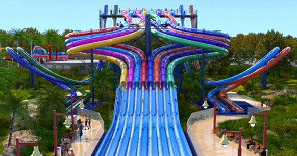The outback outpost of the international water park chain will add two new towers bristling with a total of 20 slides from WhiteWater West.