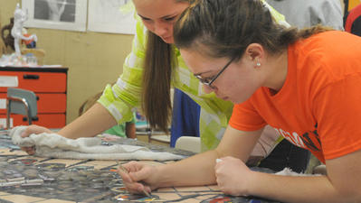 Fallston High students promote 'environmental stewardship' through mosaic