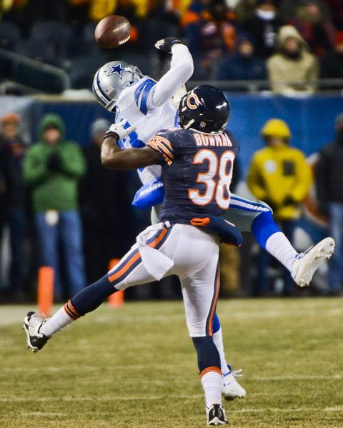 Zack Bowman's pass breakup on a pass intended for Terrance Williams was a key play for the Bears.
