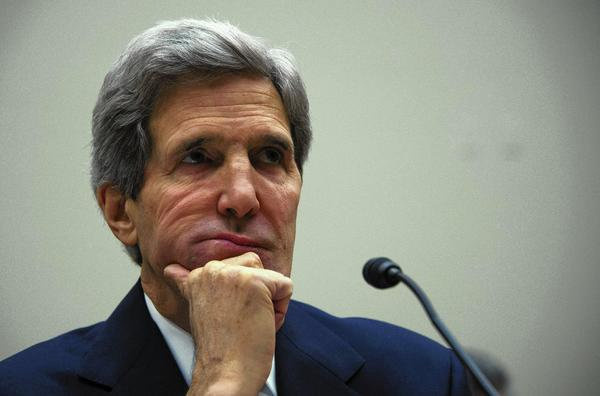 "Testifying before the House Foreign Affairs Committee, Secretary of State John F. Kerry said of nuclear talks with Iran, ""This is a very delicate diplomatic moment. We're at one of those really hinge points in history."""