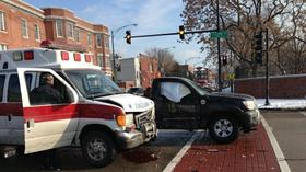 Ambulance driver charged with DUI after crash