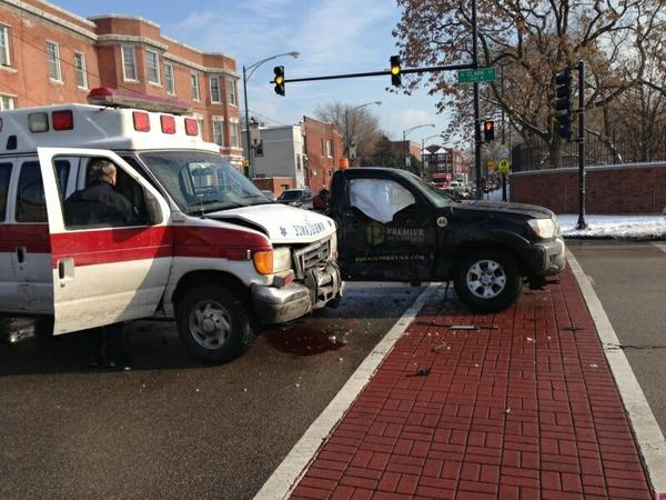 The driver of an ambulance was charged with DUI after a traffic crash.