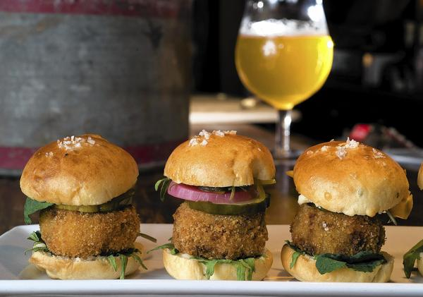 Bolete Restaurant won first place in Lehigh Valley Harvest with its pork sliders. Chefs made appetizers using at least two local ingredients available this time of year.
