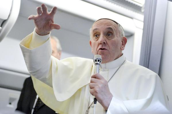 Pope Francis, named Time's Person of the Year for 2013, told journalists in July that gay men and lesbians should not be judged or marginalized by the Catholic Church.