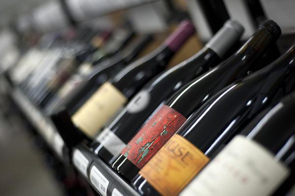A selection of bottles at Vin Chicago