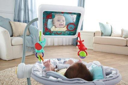 A Fisher Price baby seat that holds an iPad in front of babies has stirred controversy.