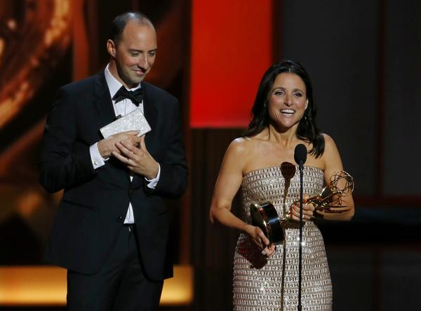 Tony Hale and Julia Louis-Dreyfus of 'Veep'