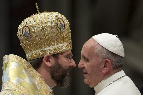 Pope Francis and Sviatoslav Shevchuk