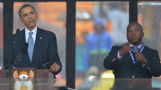 Mandela memorial interpreter dubbed a phony