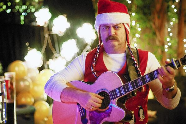 Nick Offerman performs at the 2012 Cinefamily 24 Hour Holiday Telethon.