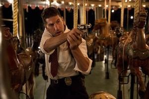 "LAPD Det. Joe Teague (Jon Bernthal) saves the life of a witness willing to testify in a double homicide case on ""Mob City."""